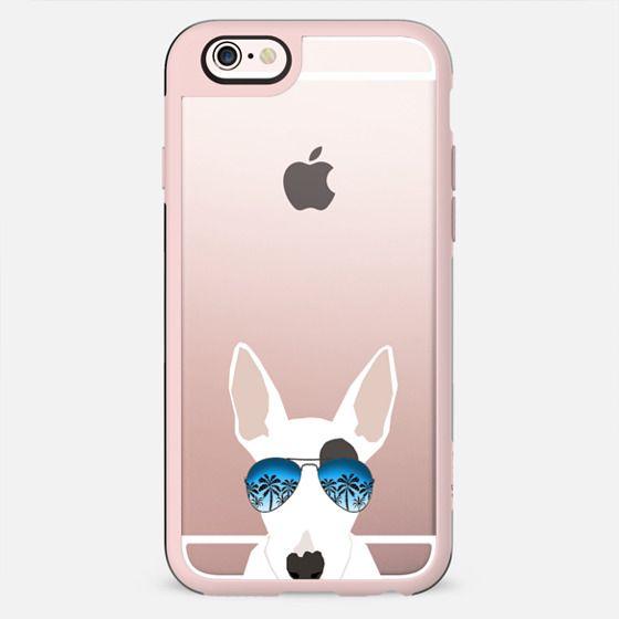 Bull Terrier sunglasses cute ombre clear cell phone case pet friendly pet portrait dog breed tech accessories