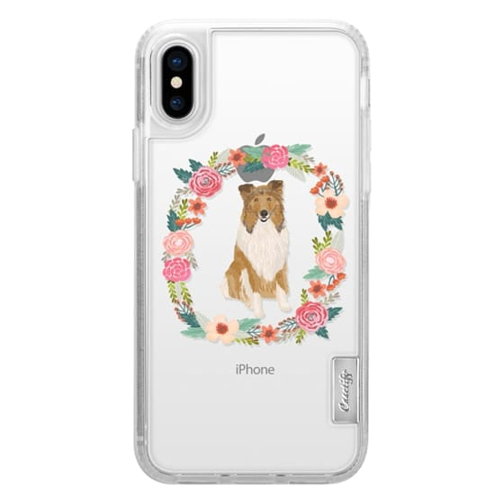 iPhone 6s Cases - rough collie clear case dog breed cute floral wreath pet friendly pupper gifts