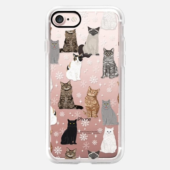 Cat Breeds snowflakes winter frozen cat lady must have gifts for christmas cat lover -