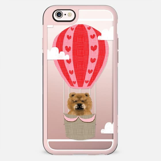 Chow Chow dog breed cute clear cell phone case with hot air balloon custom dog breeds - New Standard Case