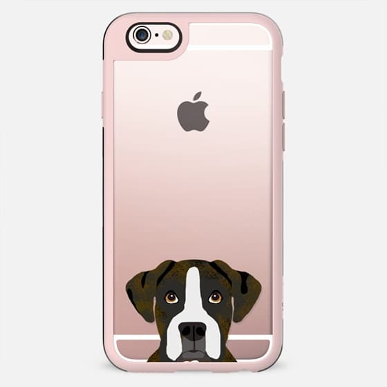 Boxer brindle clear case transparent phone cases for dog lover dog breed portraits - New Standard Case