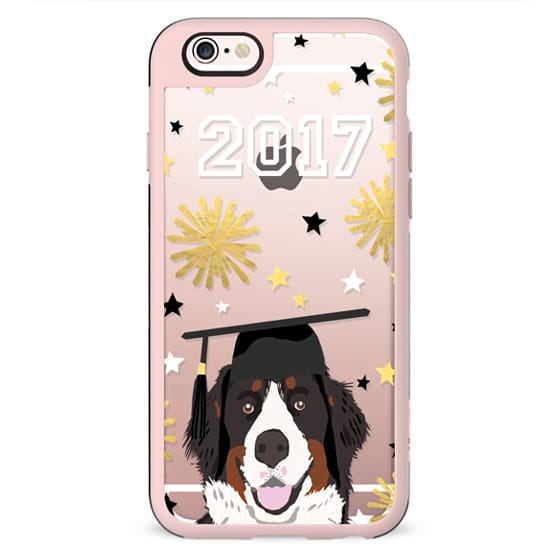 Bernese Mountain Dog dog breed clear transparent cell phone case graduation 2017 gifts