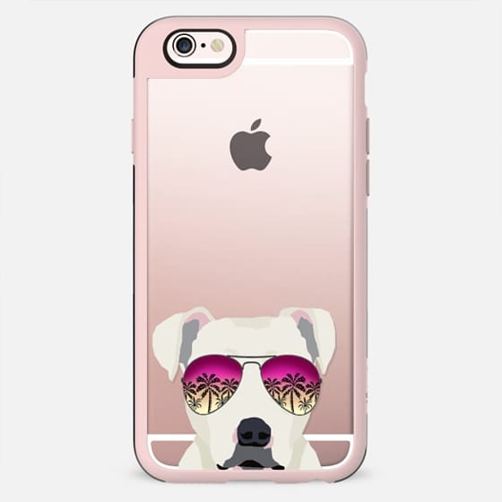 Pitbull dog breed clear case transparent dogs gifts for pitbulls sunglasses summer tech accessories
