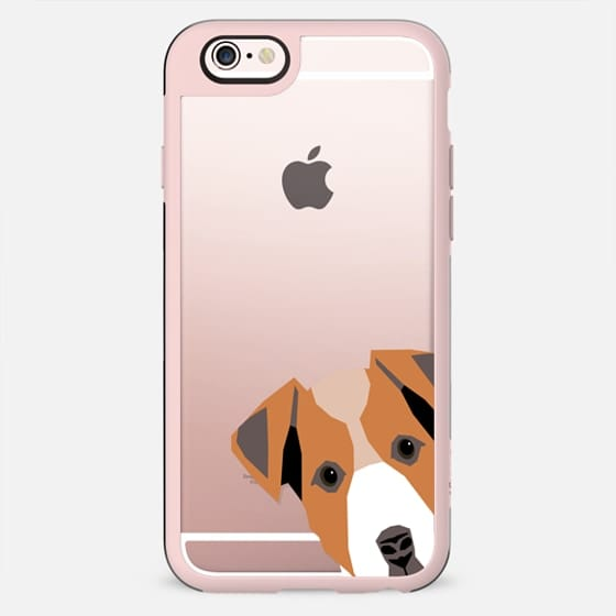 Peeking Jack Russell Terrier owner gift for the dog person in your life with a cool gold transparent case for iphone6