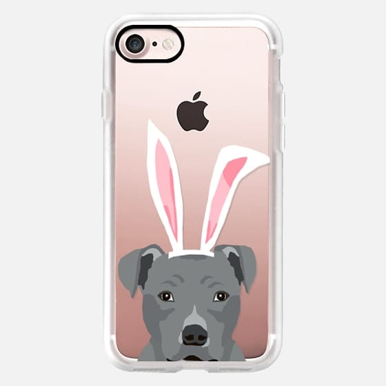 Pitbull clear case dog lover dog breeds easter spring iPhone accessories for dog person