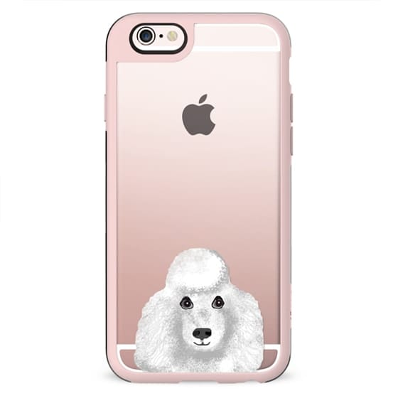 Toy Poodle white dog breed clear cell phone cases tech accessories for dog lovers