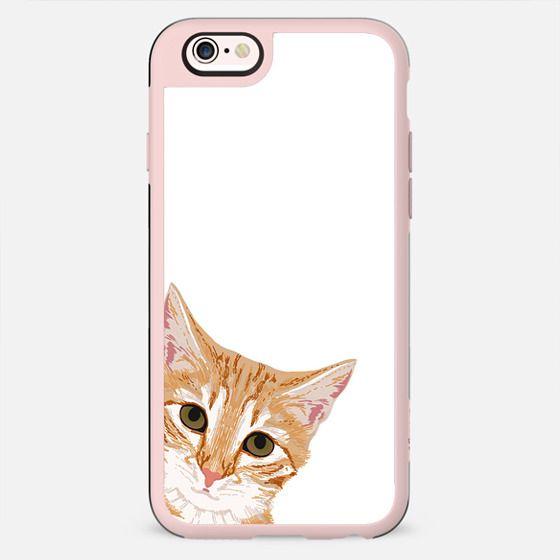 Peeking Cat - cute orange tabby cat peeking around the corner - i see you funny cat case - New Standard Case