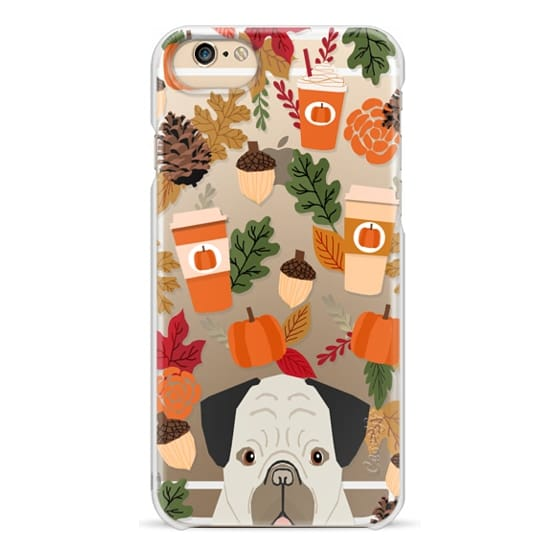 iPhone 6 Cases - Pug funny pug cell phone case for fall leaves gifts for back to school dog person pumpkin spiced latte season