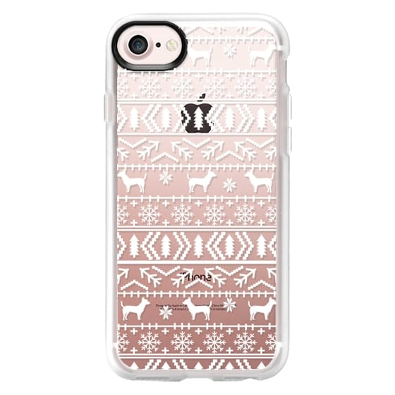 fea40ffab iPhone 7 Cases - Chihuahua fair isle christmas sweater pattern cute  traditional ugly sweater for holiday