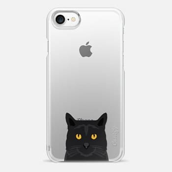iPhone 7 Case Cute black cat gift idea for cat lady cat person kitten clear cell phone case iphone6