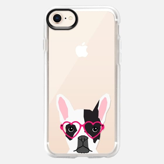 Black and White french bulldog frenchie pet owners cell phone case transparent iphone6 case pet friendly - Snap Case