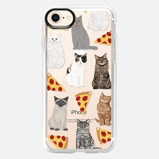 Cats and pizza cute junk food pizza slice cell phone case cat lady must have iphone6 accessories for tech devices - Snap Case