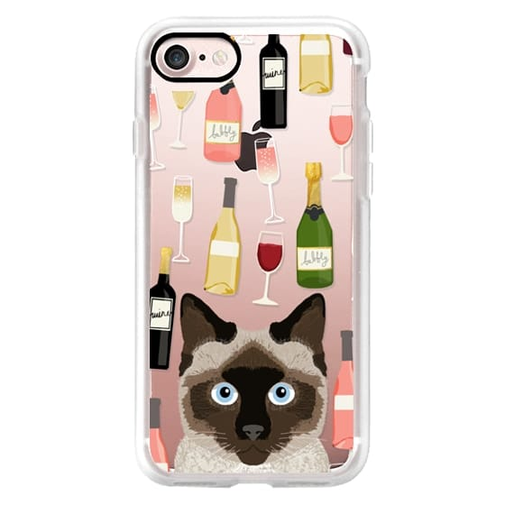 Siamese cat breed cat lover cell phone case for cat lady wine cocktail party gifts