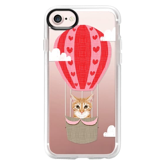 iPhone 6s Cases - Orange Tabby cat hot air balloon clear transparent cell phone case pet friendly