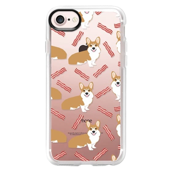 iPhone 7 Plus Cases - Corgi bacon cell phone case cute clear case for welsh corgi dog lovers