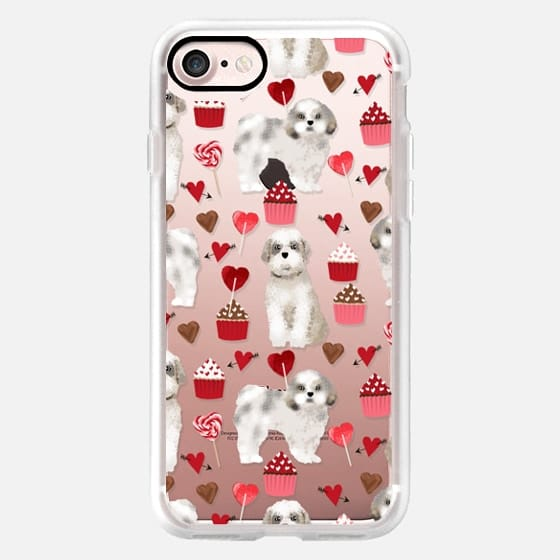 Shih Tzu cute valentines day custom dog gifts for pet lover dogs puppies fluffy white valentines dog -