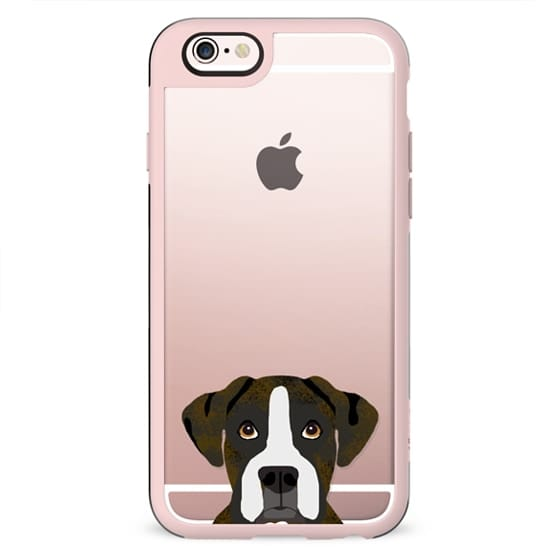 Boxer brindle clear case transparent phone cases for dog lover dog breed portraits