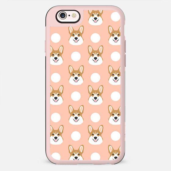 Pastel Corgi drops dots modern minimal funny dog phone case welsh corgi gift ideas - New Standard Case