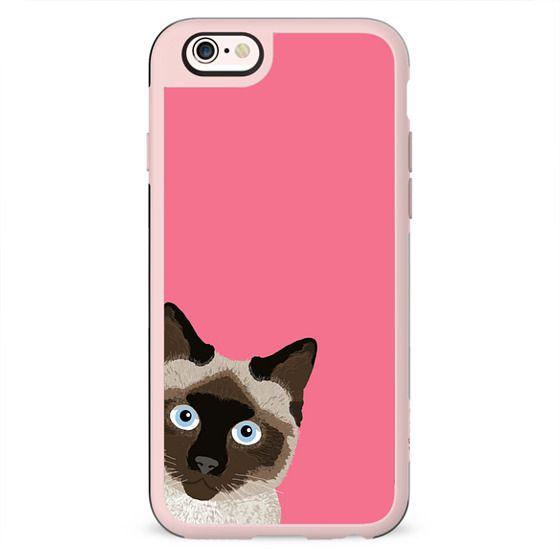 Peeking Siamese Cat case - cute funny meme cat for iphone 6 case
