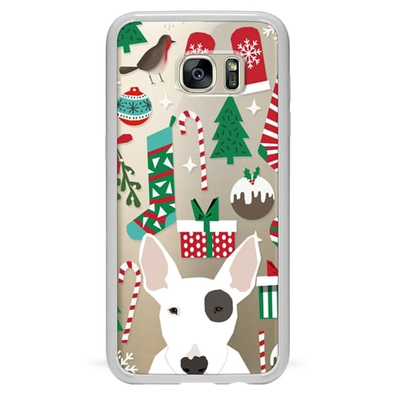 big sale cada4 484c8 Classic Snap Samsung Galaxy S7 Edge Case - Bull Terrier cute target dog  spot cell phone case christmas clear transparent cell phone cases