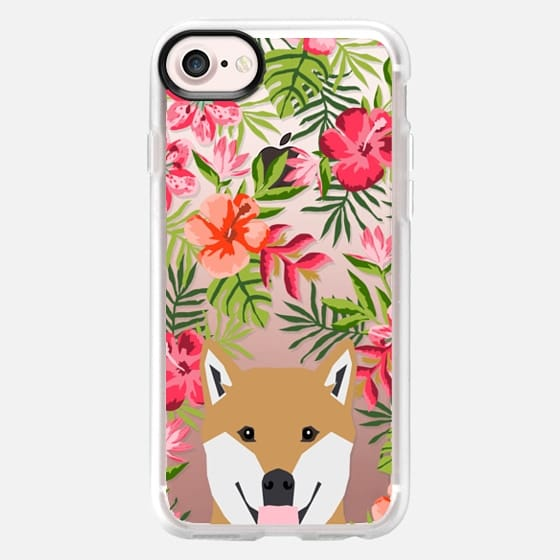 Shiba Inu tropical hawaiian palm tree summer cell phone case for dog lovers by pet friendly