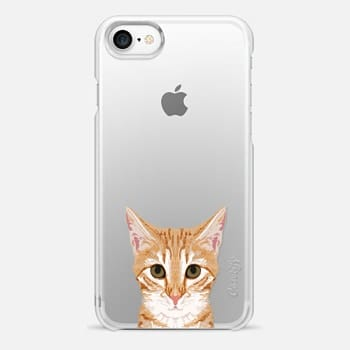 iPhone 7 Case sweet kitten cell phone case funny cat clear iphone cases perfect for cat person cat lover cat lady gifts