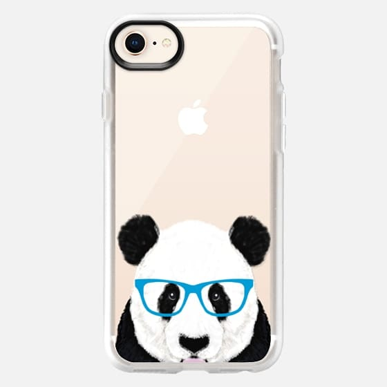 nerdy panda cute funny hipster panda glasses illustration wildlife nature forest kawaii transparent cell phone case with panda - Snap Case