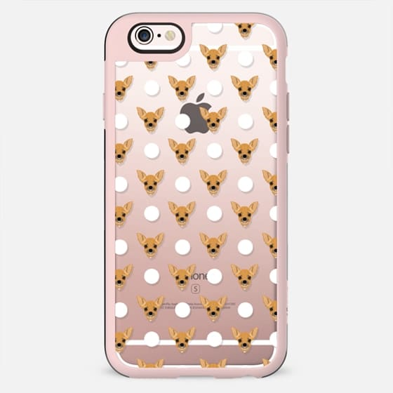 Polka dots case with chihuahua design small cute chihuahua puppy phone case for dog person gift