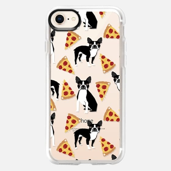Boston Terrier Pizza - cute funny boston terrier owner phone case pizza - Snap Case