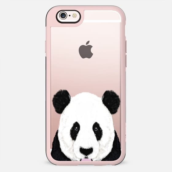 Panda cute black and white nature animal transparent cell phone case for iphone with panda cute panda cub