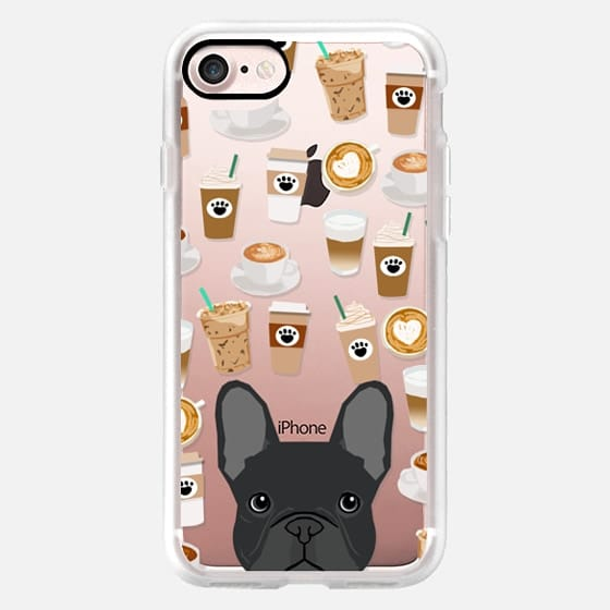French Bulldog coffee shop latte summer fall winter cell phone case for dog person -
