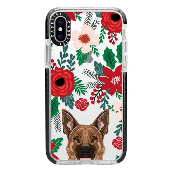 iPhone X Cases - German Shepherd christmas cell phone gift presents for holiday dog person