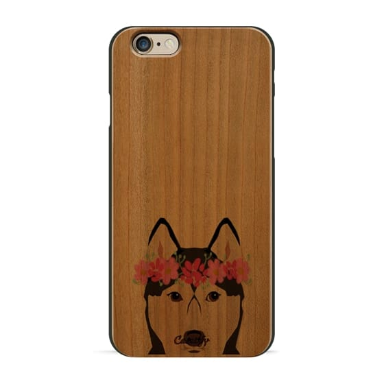 iPhone 6 Cases - Husky with Blue Eyes happy siberian husky funny cell phone  case with ... 3da68dd1c