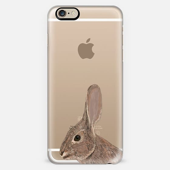 Bunny best friend clear cell phone case for iphone rabbit owners bunny pets -