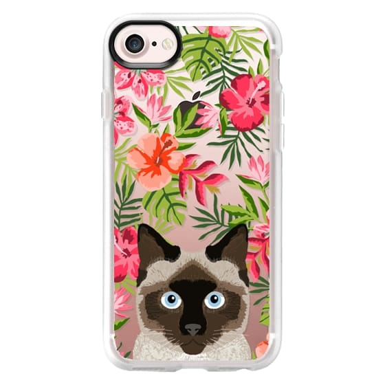 new concept aa763 1f178 Classic Grip iPhone 7 Case - Siamese Cat tropical hawaiian palm tree summer  cell phone case for cat lovers by pet friendly