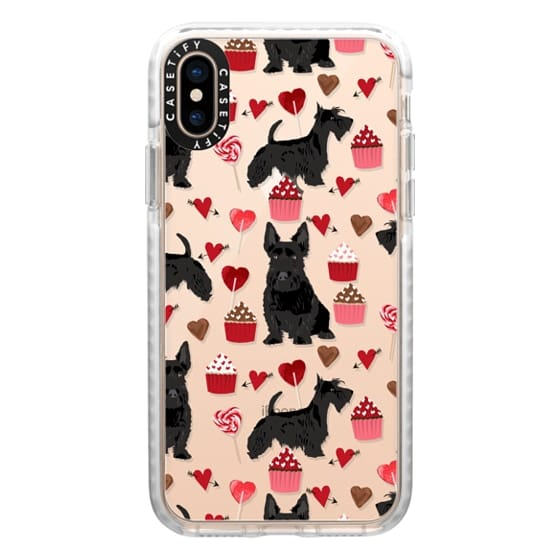 iPhone XS Cases - Scottie scottish terrier dog breed valentines day clear transparent case for new iphone dog breed valentine gifts