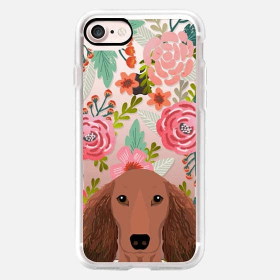 dachshund florals cute spring summer cell phone cases for doxie owner -