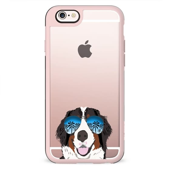 Bernese Mountain Dog summer sunglasses clear case ombre pet portrait dog breed dogs