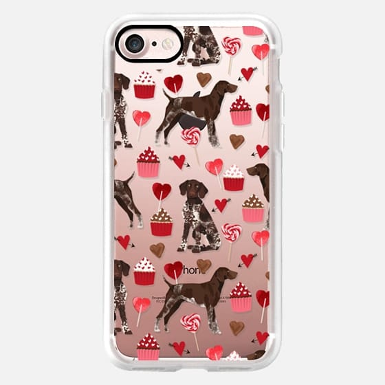 German Shorthair Pointer dog breed valentines day pet friendly cell phone cases for dog lover dog gifts -