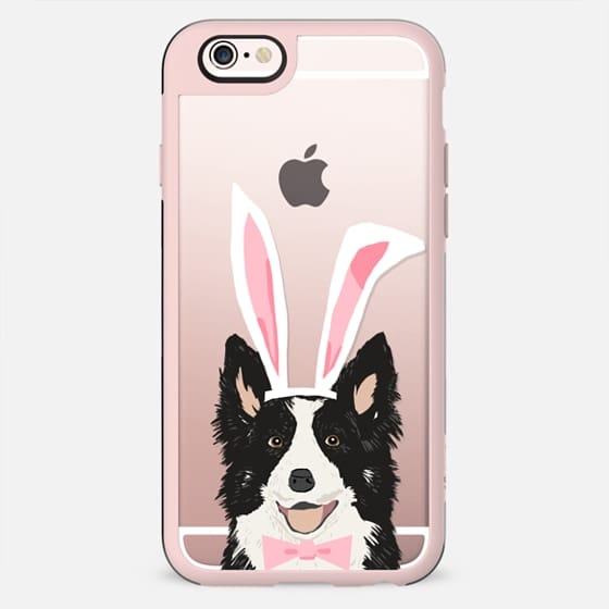 Border Collie easter bunny costume spring collies dog breed gifts for dog lover unique pet portraits - New Standard Case