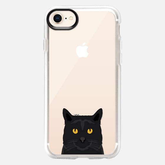 Cute black cat gift idea for cat lady cat person kitten clear cell phone case iphone6 - Snap Case