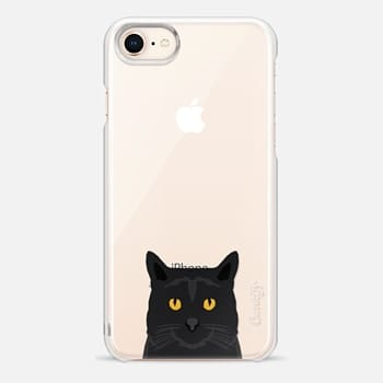 iPhone 8 Case Cute black cat gift idea for cat lady cat person kitten clear cell phone case iphone6