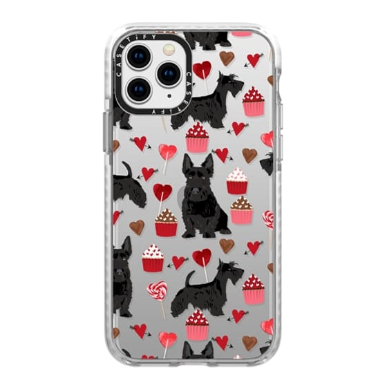 iPhone 11 Pro Cases - Scottie scottish terrier dog breed valentines day clear transparent case for new iphone dog breed valentine gifts