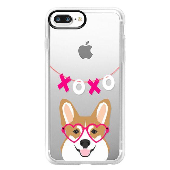 timeless design c2bba 48304 Classic Grip iPhone 7 Plus Case - Funny Corgi Welsh Corgi pet gift on  transparent cell phone case dog corgi owner perfect gift
