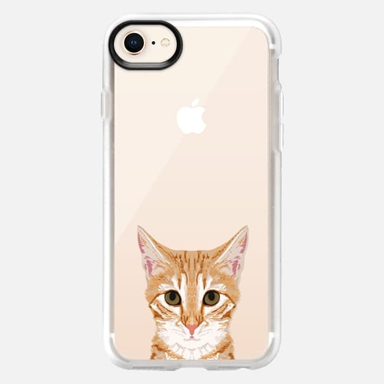 sweet kitten cell phone case funny cat clear iphone cases perfect for cat person cat lover cat lady gifts - Snap Case