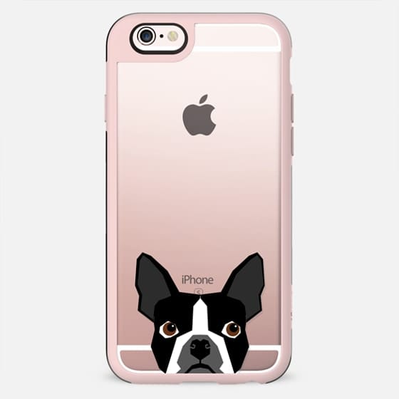 Boston Terrier Cell Phone case for dog lovers dog person gifts clear iphone case black and white puppy - New Standard Case