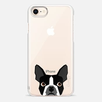 iPhone 8 Case Boston Terrier Cell Phone case for dog lovers dog person gifts clear iphone case black and white puppy