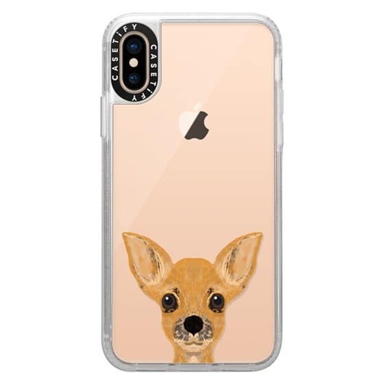 purchase cheap 87aaf fce1c Grip iPhone XS Case - chihuahua cell phone case for small cute dog owner  dog person gifts clear transparent iphone6 case with funny dog