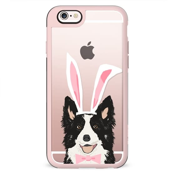 Border Collie easter bunny costume spring collies dog breed gifts for dog lover unique pet portraits