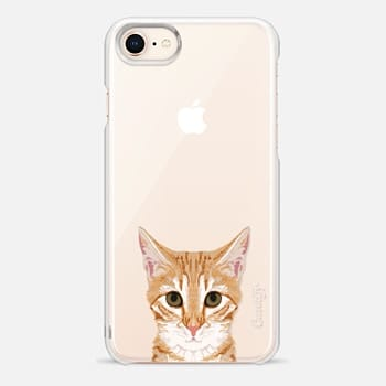 iPhone 8 Case sweet kitten cell phone case funny cat clear iphone cases perfect for cat person cat lover cat lady gifts